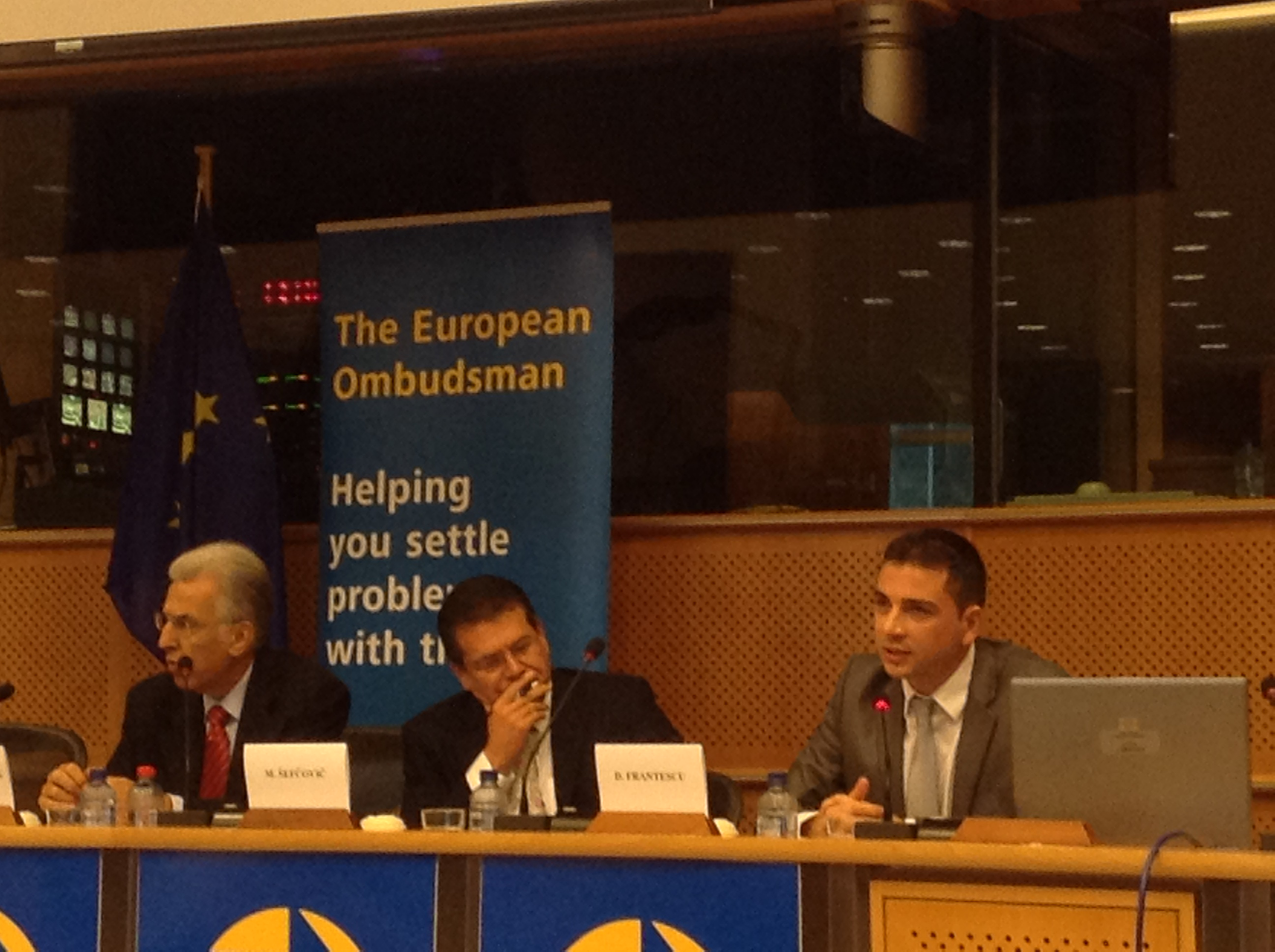 Doru Frantescu at the farewell event of the former European Ombudsman