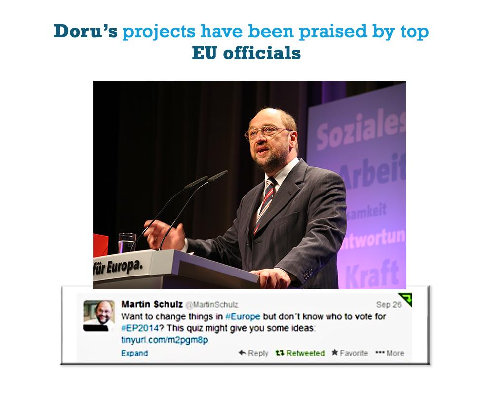 Doru Frantescu praised by Martin Schulz