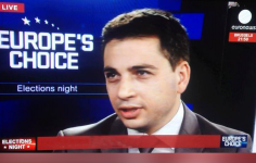 Commenting Live On Euronews During The Night Of The European Elections In 2014