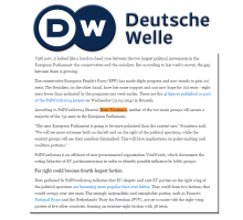 Doru Frantescu in the Deutsche Welle