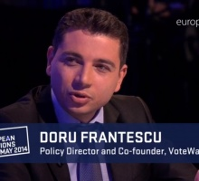 Doru Frantescu at the European Parliament's TV channel