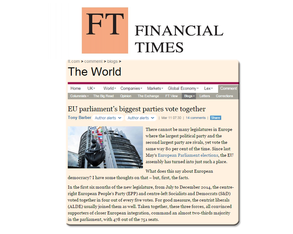 Doru Frantescu in the Financial Times