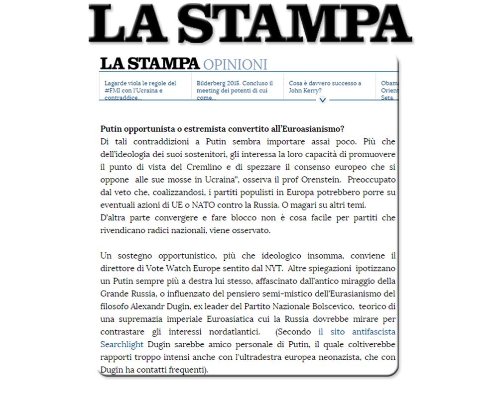 Doru Frantescu in La Stampa